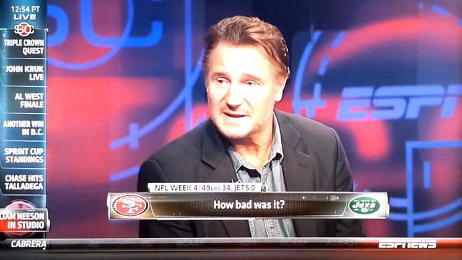 Liam Neeson ESPN SportsCenter - H 2012