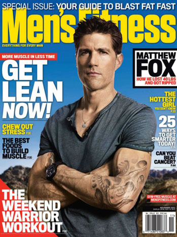 Matthew Fox Men's Fitness Cover Novemeber - P 2012