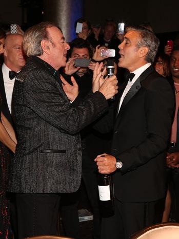 Neil Diamond George Clooney Sweet Caroline - P 2012