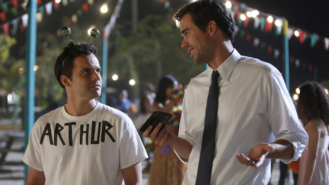 New Girl Jake Johnson and David Walton - H 2012