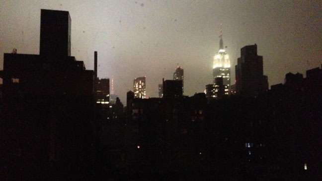 Hurricane Sandy New York City Power Outage - H 2012