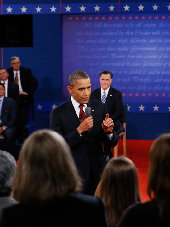 Obama Debate Single Shot - P 2012