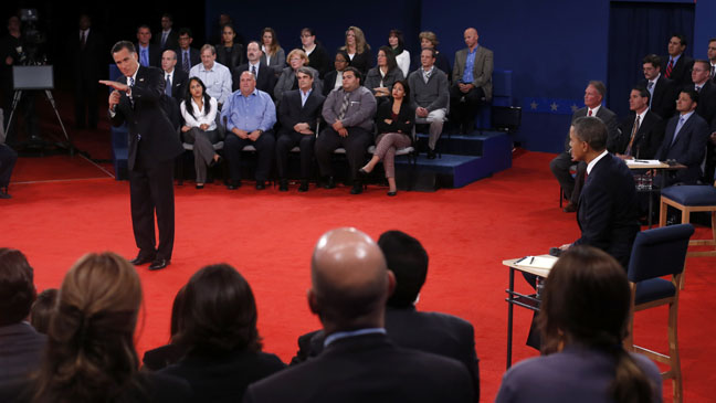 Romney Obama Debate Wide - H 2012