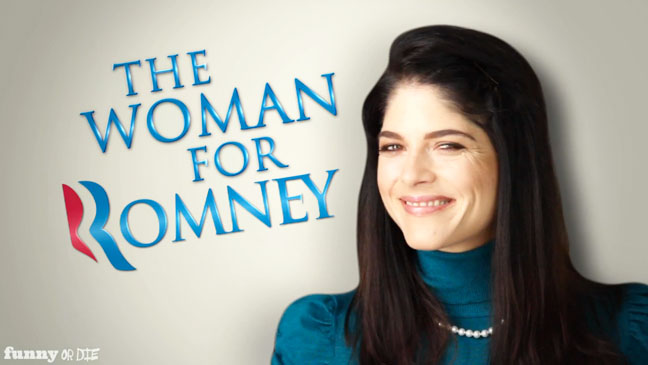 Selma Blair The Woman for Mitt Romney - H 2012