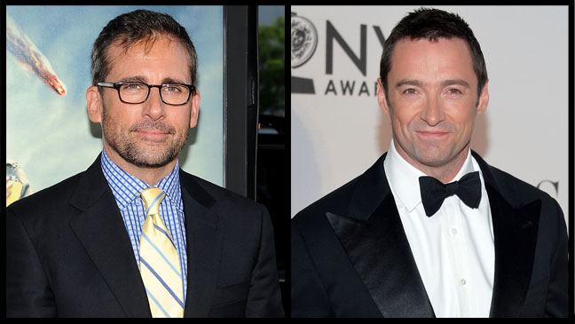 Steve Carell Hugh Jackman Split - H 2012
