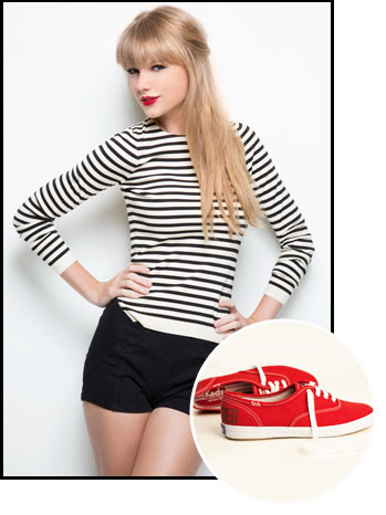 Taylor Swift Red Keds Inset - P 2012