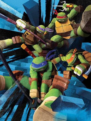 New Teenage Mutant Ninja Turtle Key Art - P 2012