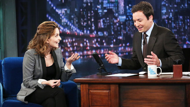 Tina Fey on Late Night with Jimmy Fallon - H 2012