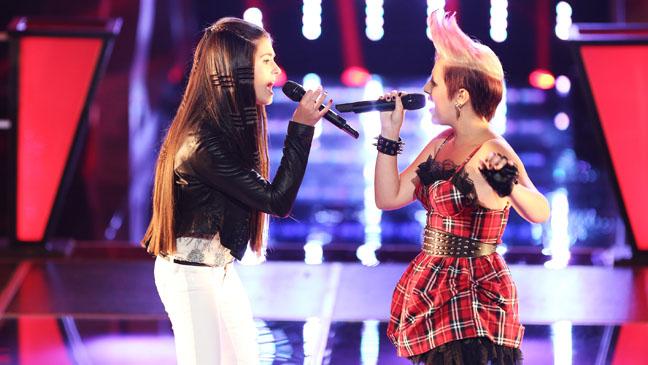 The Voice Battles Kelly Crapa Michaela Paige - H 2012