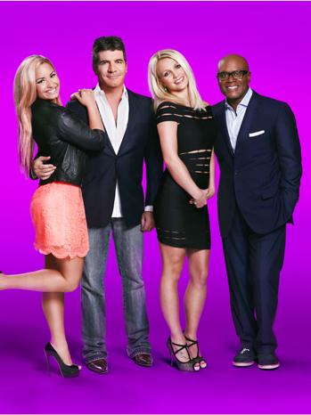 X Factor Judges PR Purple P 2012