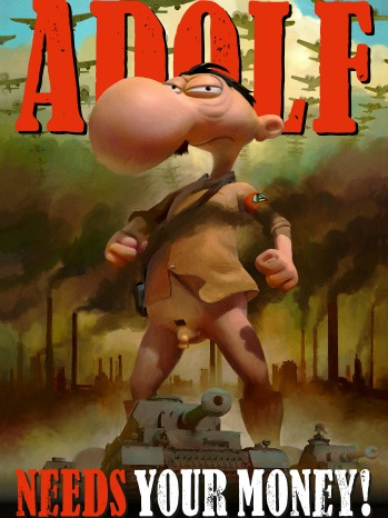Adolf cartoon - P 2012