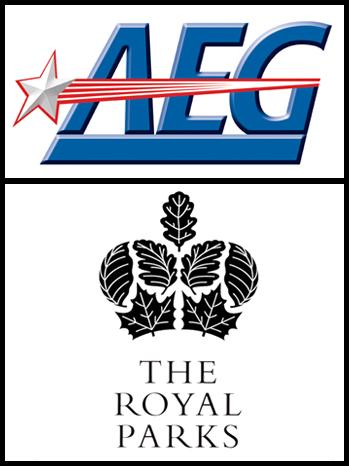 AEG Royal Parks logos split P