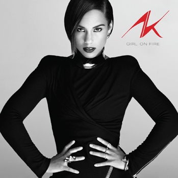 alicia keys girl on fire CD cover P