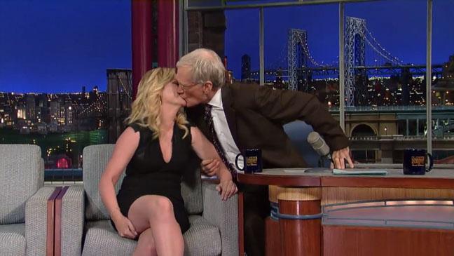 Amy Poehler David Letterman Kiss - H 2012