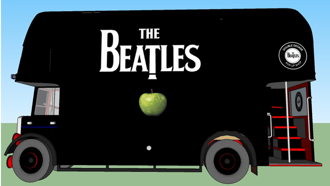 Beatles pop up bus L