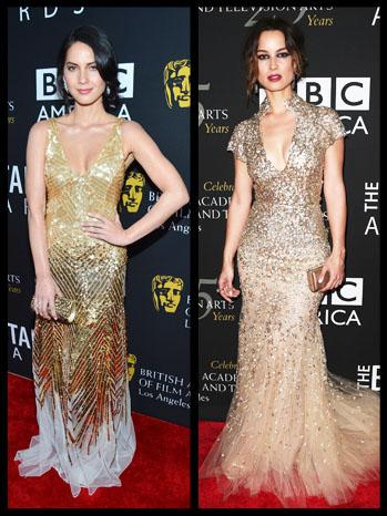 Berenice Marlohe Olivia Munn BAFTA Split - P 2012