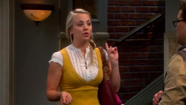 The Big Bang Theory Screen Grab - Kaley Cuoco - H 2012