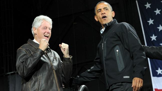 Bill Clinton Barack Obama Virginia Nov 3 - H 2012