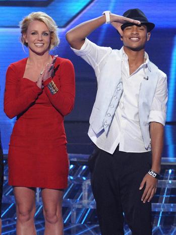 Britney Spears Arin Ray elim X Factor P
