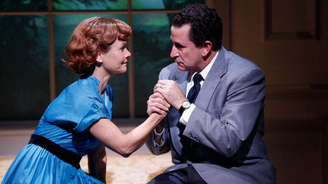 Anthony LaPaglia and Kathryn Erbe in CHECKERS - H 2012