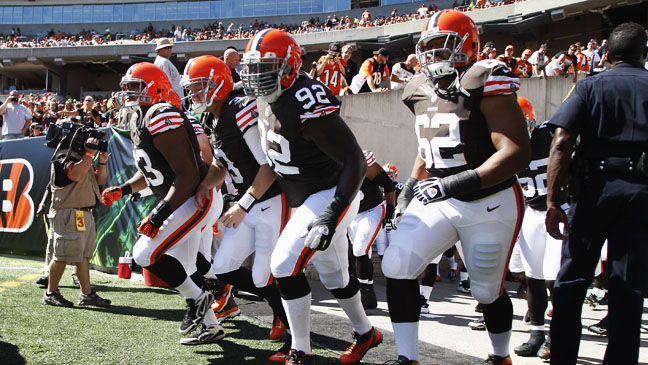 Cleveland Browns Entering Field - H 2012