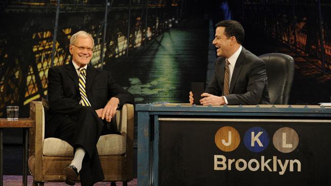 David Letterman Jimmy Kimmel - H 2012