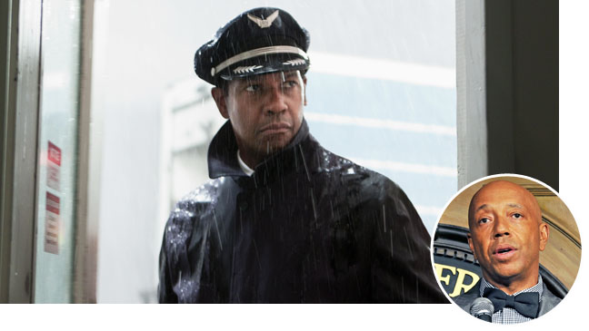 Flight Still Denzel Washington Russell Simmons Inset - H 2012