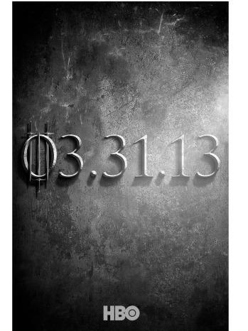 Game of Thrones Season 3 Poster - P 2012
