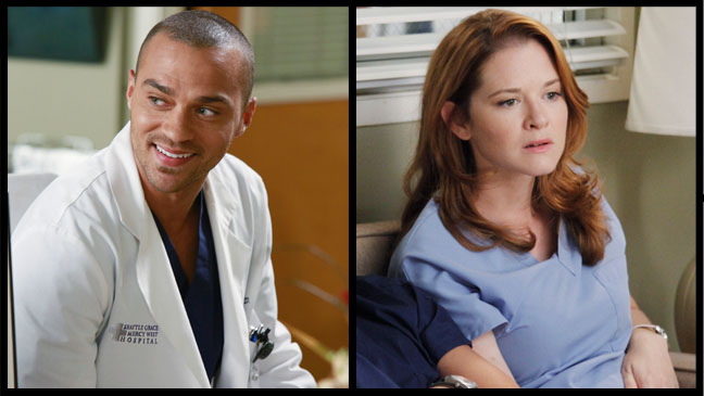 Grey's Antomy Jesse Williams Sarah Drew Episodic Split - H 2012