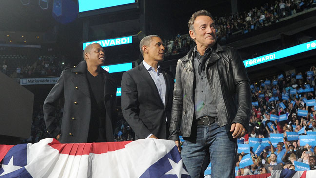 Jay-Z Barack Obama Bruce Springsteen - H 2012
