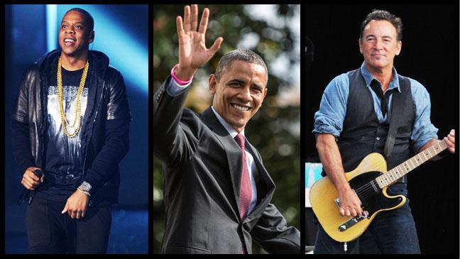 Jay-Z Obama Springsteen Split - H 2012