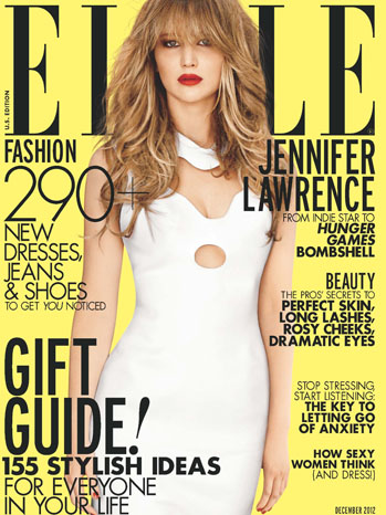 Jennifer Lawrence ELLE Cover December - P 2012