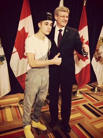 Justin Bieber Overalls Prime Minister - P 2012
