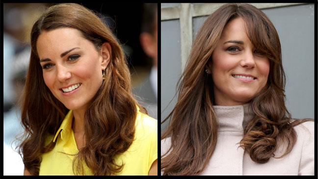 Kate Middleton Bangs Before After Split - H 2012
