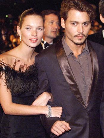 Kate Moss Johnny Depp 1998 - P 2012