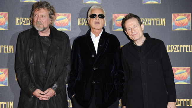 'Led Zeppelin: Celebration Day' Premiere Plant, Page, Jones - H 2012
