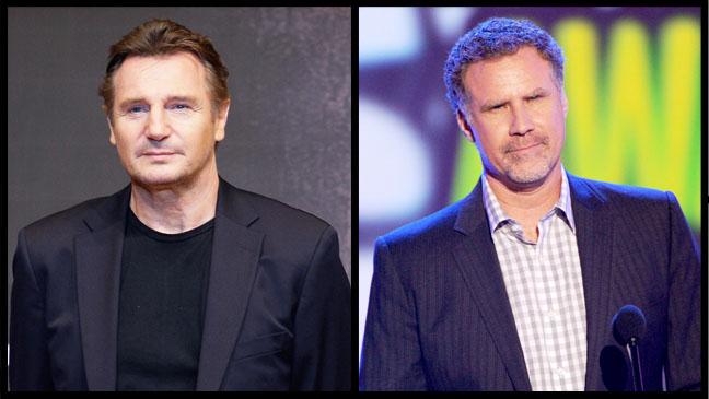 Will Ferrell Liam Neeson Split - H 2012