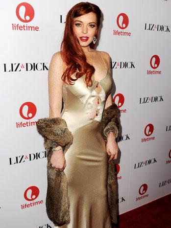 Liz & Dick Premiere Lindsay Lohan - P 2012