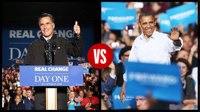 Obama Vs. Romney Campaigning Split - H 2012