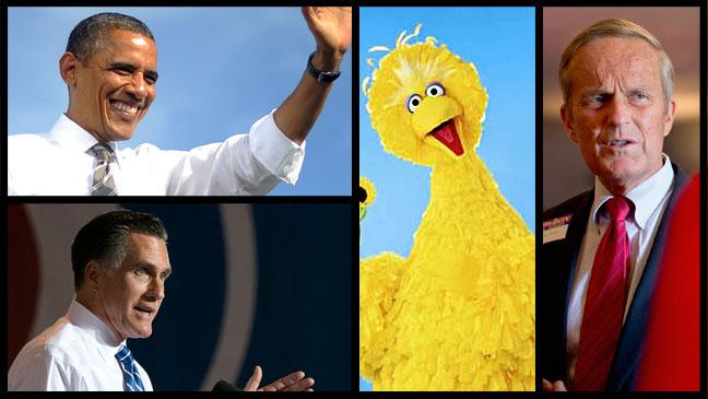 Barack Obama Mitt Romney Big Bird Todd Akin - H 2012