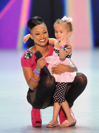 The X Factor Auditions Paige Thomas with Daughter - P 2012