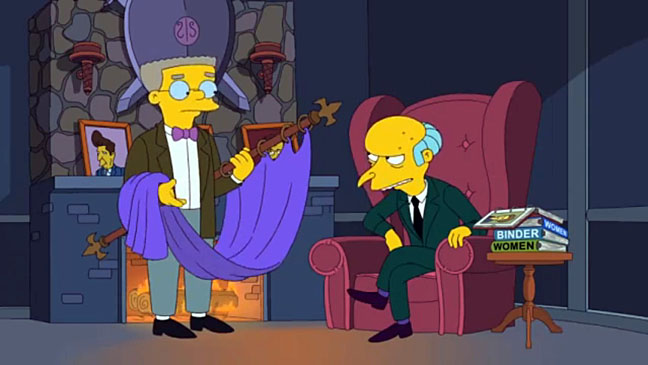 Simpsons Mr. Burns Endorses Mitt Romney - H 2012