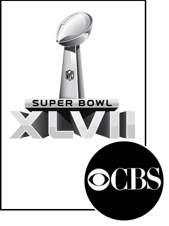 Super Bowl XLVII logo CBS inset - P 2012