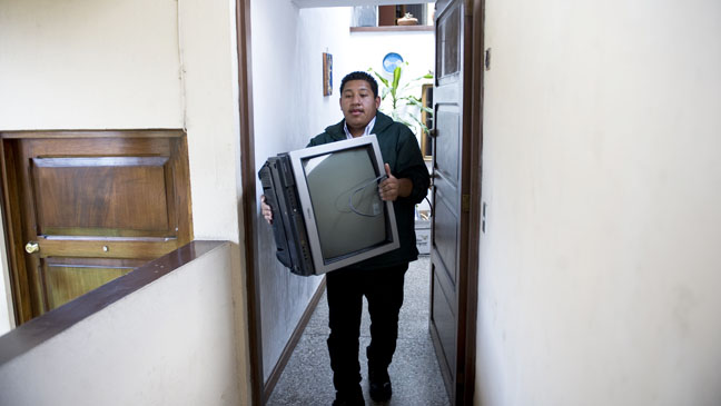 Television being thrown out - H 2012