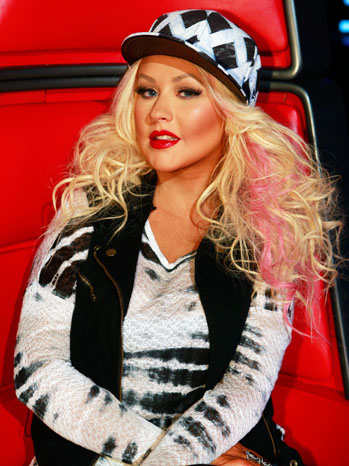 The Voice Christina Aguilera Judge's Chair 11/27 - P 2012