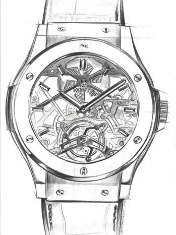 Tourbillon Watch Sketch - P 2012
