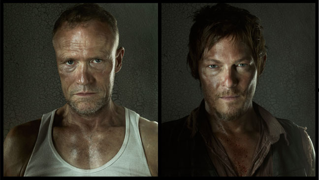 The Walking Dead Merle Daryl Split - H 2012