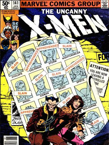 The Uncanny X-Men Vol. 141 Cover - P 2012