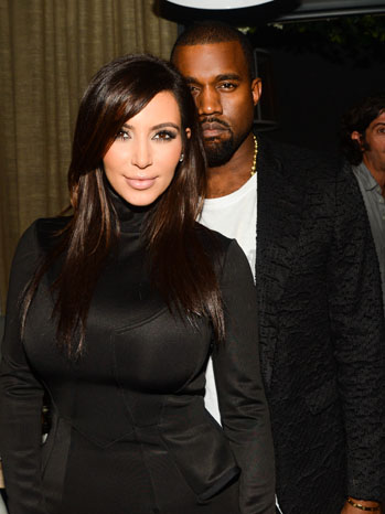 Kim Kardashian and Kanye West at the Wall
