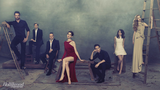 Les Miserables Anne Hathaway Hugh Jackman Pose For Thr Hollywood Reporter